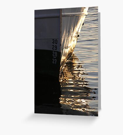Gothenburg quayside reflections Greeting Card