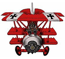 Red Baron airplane funny cartoon Photographic Print