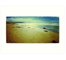 Vintage Mission Beach Framed Art Print