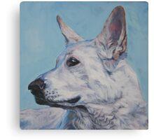 German Shepherd Fine Art Painting Canvas Print