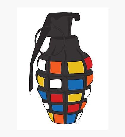 Rubik's Grenade Photographic Print