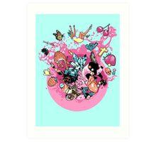 Exploding Gumball (Bubble Glum) Art Print