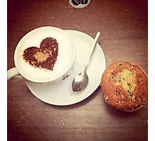 Love and a Muffin Photographic Print