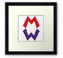 Mario and his Darkside Framed Print