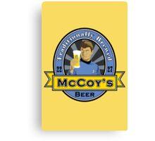 McCoy's Beer Canvas Print