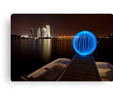 Lonely Light Orb Canvas Print