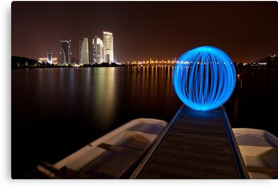 Lonely Light Orb by Ming Jun Tan