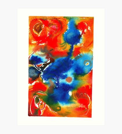 Blue Bird Fusion Art Print