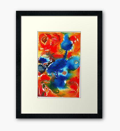 Blue Bird Fusion Framed Print