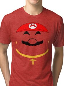 Super Gangster Mario Tri-blend T-Shirt