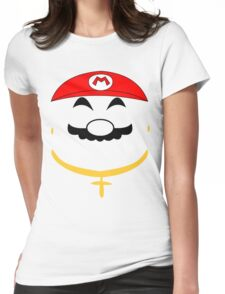 Super Gangster Mario Womens Fitted T-Shirt