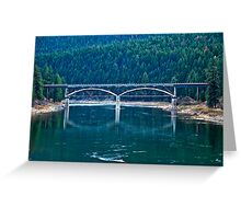 Railroad Bridge, Sanders County, Montana, USA Greeting Card