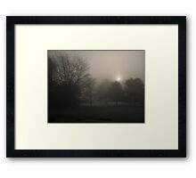 Foggy Foliage Framed Print