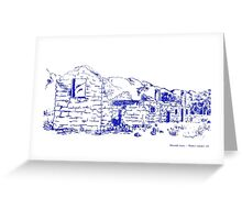 Kanyaka Sheep Station Ruins Flinders Ranges SA Etching Greeting Card