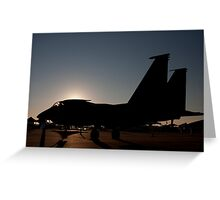 F-15 at dawn on the ramp Greeting Card