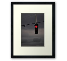 Stop There's a Storm Framed Print