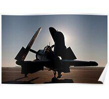 F4U Corsair at dawn Poster