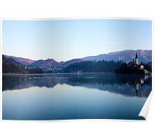 Morning at Lake Bled Poster