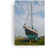 Lindisfarne shoreline Canvas Print