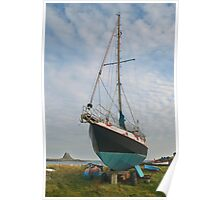 Lindisfarne shoreline Poster