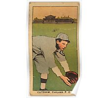 Benjamin K Edwards Collection Cutshaw Oakland Team baseball card portrait Poster