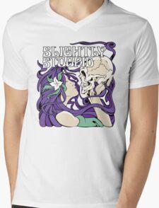 Slightly Stoopid Women Kissing Skleton Mens V-Neck T-Shirt