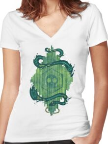 Green is the Color of Death Women's Fitted V-Neck T-Shirt