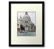 """Basilica """"S.Maria della Salute"""" città di VENEZIA - ITALY - EUROPA - VETRINA RB EXPLORE 6 DICEMBRE 2011 - - Framed Print"""