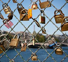 Love Padlocks in Paris by Dan Lauf