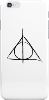 Deathly Hallows iphone case by Kate Bloomfield