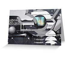 Geometrical Graffiti Greeting Card