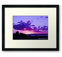 Excuse Me, While I Kiss The Sky Framed Print