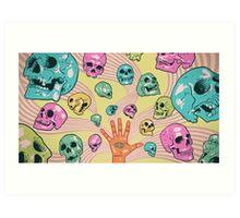 Candy Skulls Art Print