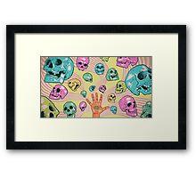 Candy Skulls Framed Print