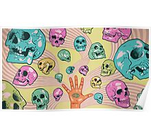 Candy Skulls Poster