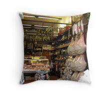 Delicatessan In San Gimiginano Throw Pillow