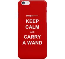 keep calm and carry a wand iPhone Case/Skin
