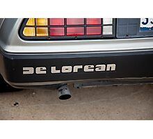 De Lorean nameplate Photographic Print