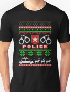 Police Ugly Christmas Shirt T-Shirt