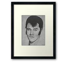 Elvis Presley - Pencil Sketch Framed Print