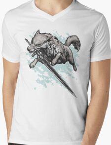 The Swordswolf Mens V-Neck T-Shirt