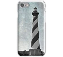 Hatteras Lighthouse (black and white with texture) iPhone Case/Skin