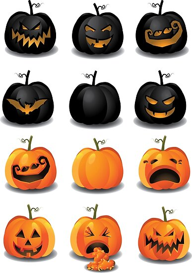 Black and Orange Jack 'o Lanterns