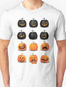 Black and Orange Jack 'o Lanterns T-Shirt