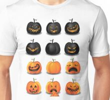 Black and Orange Jack 'o Lanterns Unisex T-Shirt