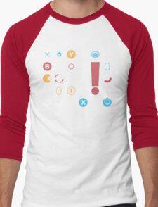 Video Game Icons Men's Baseball ¾ T-Shirt