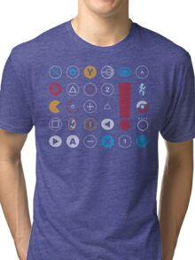 Video Game Icons Tri-blend T-Shirt