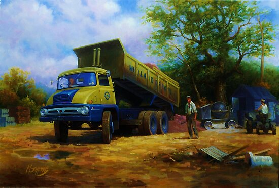 Thames Trader tipper. by Mike Jeffries