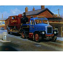Scammell Highwayman lowloader. Photographic Print