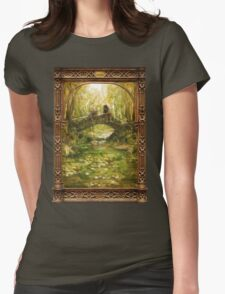 Two friends sitting by a river Womens Fitted T-Shirt